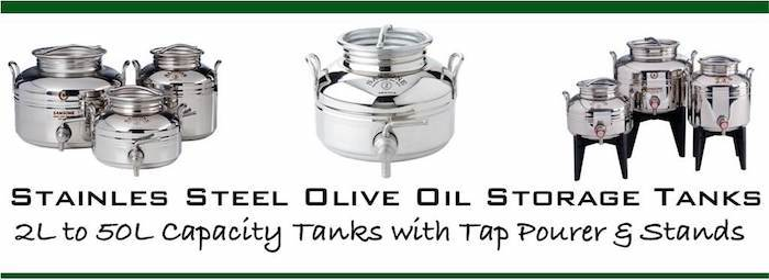 Stainless Steel Olive Oil Containers ( Fusti ) 2-30 Litre